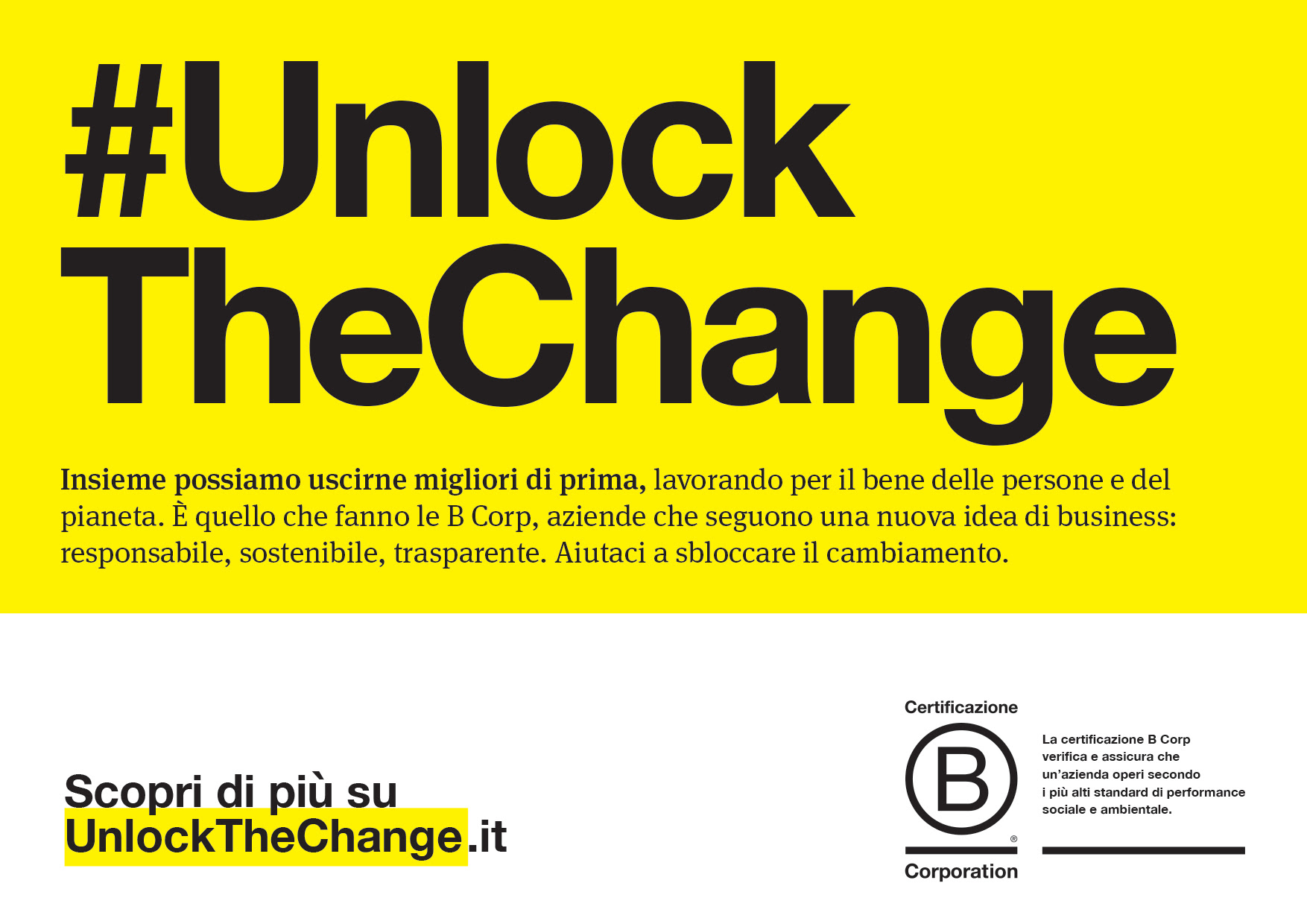 unlock the change b corp time to b